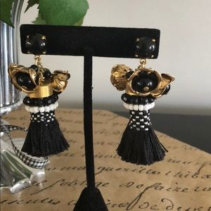J. Crew Jewelry - J. Crew beaded flower earrings